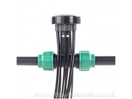 Hydroponics TopSpin Dripper Manifold 25mm (1ins) Complete with Tee