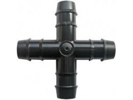 Hydroponics 16mm Cross connector Pack of 5