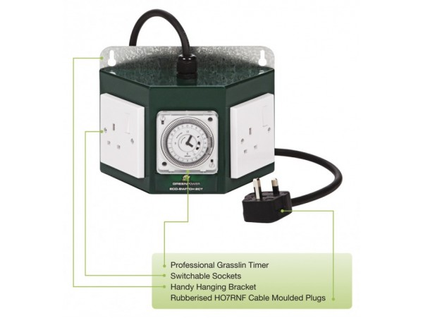 Hydroponics Greenpower Professional Contactor Timer 2 Way
