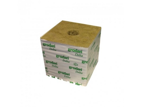 "Hydroponics Grodan Rockwool 3"" Wrapped Cube (Small Hole)"